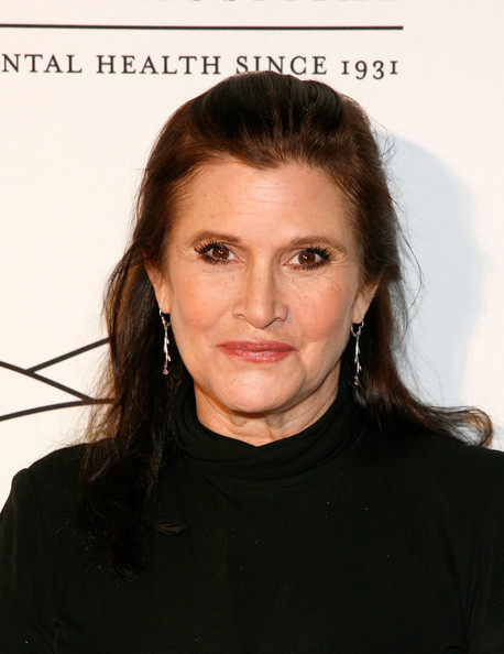 Carrie Fisher's Slicked Back 'Do