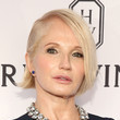 Ellen Barkin's Straight Side-Part