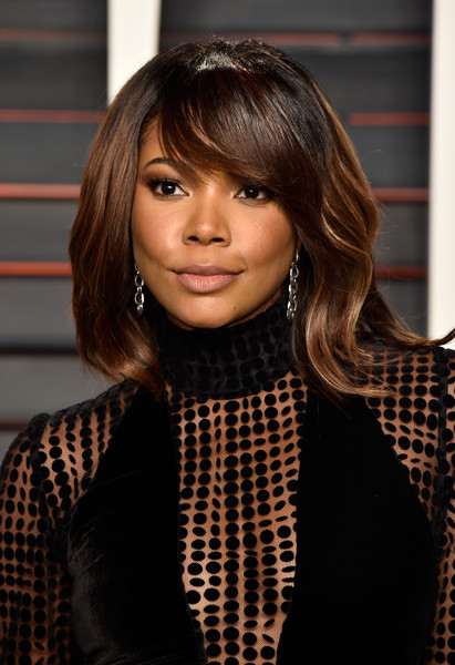 Gabrielle Union's Side Swept Bangs