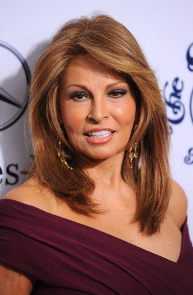 Raquel Welch's Layered Hairstyle