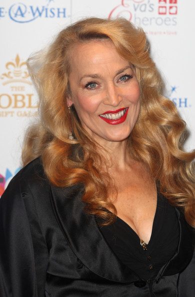 Jerry Hall's Strawberry Blonde Tresses
