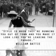 William Battie 'Lead the Parade' Quote