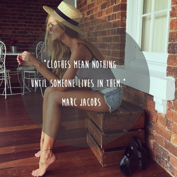 Marc Jacobs 'Clothes Mean Nothing' Quote