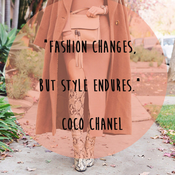 Coco Chanel 'Style Endures' Quote