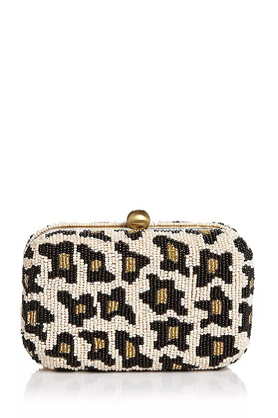 Leopard Beaded Bag