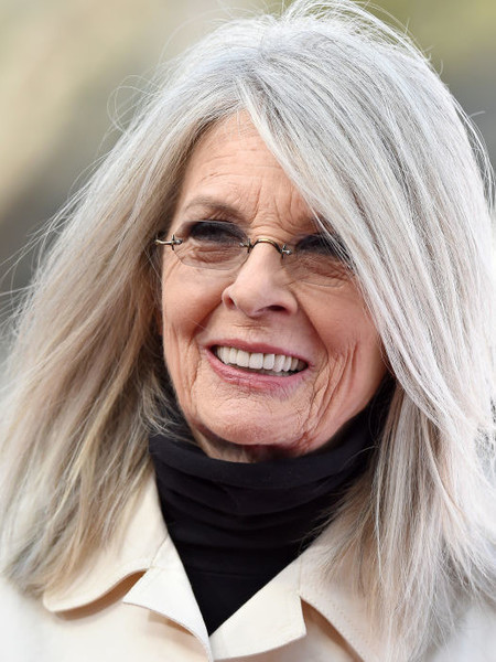 Diane Keaton Celebs Who Love Their Gray Hair It S Rosy