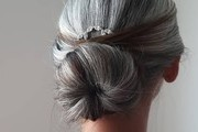Glamorous Gray Hairstyles For The Holiday Season