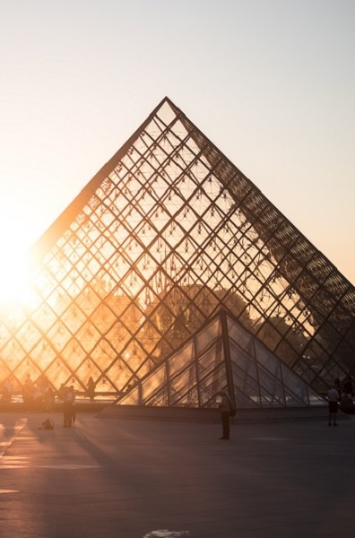 The Louvre's Glass Pyramid Made Its Debut